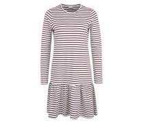 Streifen-Kleid 'Nmavery' weiß