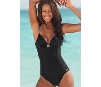 Bügel-Badeanzug schwarz