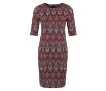 Kleid 'Printed CoDress' mischfarben / weinrot