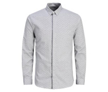 Klassisches Langarmhemd grau