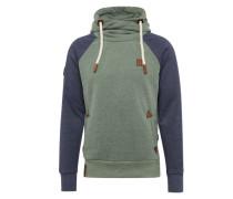 Pullover navy / grün