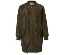 Lange Bomber-Jacke khaki