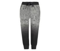 Jogg Pants Zebra-Print grau / schwarz