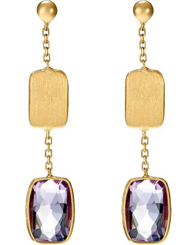 Ohrhänger gold / purpur