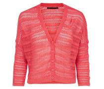 3/4-ärmeliger Strick-Cardigan pink