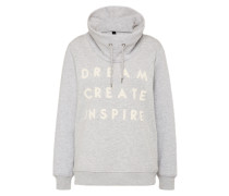 Sweatshirt 'oma 2' hellgrau / weiß