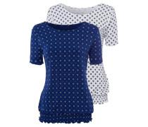 Shirts dunkelblau / hellgelb / weiß