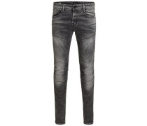 Slim Fit Jeans Jjiglenn Jjjax BL 704 Indigo Knit grau