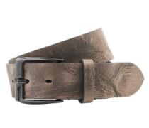 Ledergürtel mit Dornschließe 'B-whyz' braun / silber