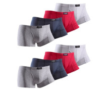 Baumwoll-Hipster (8 Stck.) blau / grau / rot / weiß
