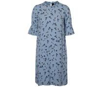 Lässiges Kleid mit kurzen Ärmeln himmelblau