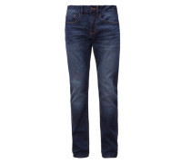 Dunkle Stretch-Jeans blau