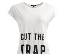 Shirt 'milda Typo Print' schwarz / naturweiß