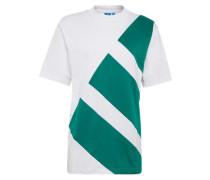 T-Shirt 'eqt Block Tee' grün / weiß