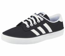 Canvas-Sneaker 'Kiel' schwarz / weiß