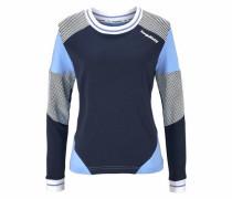 Sweatshirt navy / hellblau / schwarz / weiß