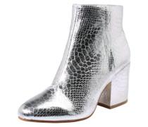 Ankle Boot in Metallic-Optik silber