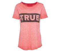 T-Shirt 'boxy Crew' rot / schwarz