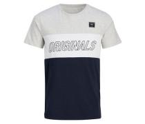 Lässiges T-Shirt blau / grau / weiß
