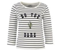 Sweatshirt mit Streifen 'Onlmilan' marine / khaki / weiß