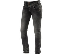 Goldie Straight Fit Jeans Damen grau