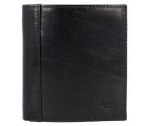 'Bern' Geldbörse Leder 9 cm schwarz