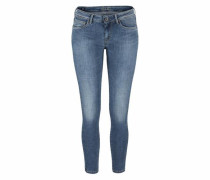 Skinny-fit-Jeans 'lola' blue denim