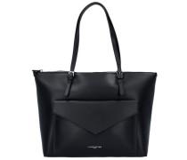 Pur Smooth Shopper Tasche Leder 35 cm schwarz