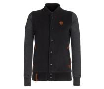 Zipped Jacket 'Scheiss auf die Jungs' anthrazit / schwarz