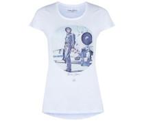 Shirt 'wmn Pilot' mischfarben / weiß