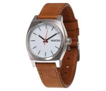 Armbanduhr 'Medium Time Teller' cognac / silber
