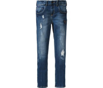 Jeans 'Cleo' mit Patch blue denim