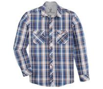 Trachtenhemd im Karodesign blau / mischfarben
