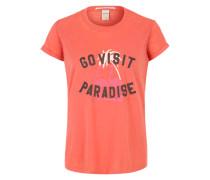 Printshirt im Used Look pink