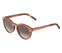 Sonnenbrille 'Leopold' mit Rahmen aus Rosenholz braun