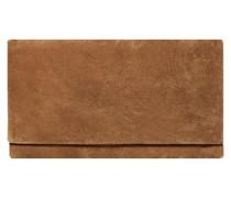 Clutch aus Veloursleder braun