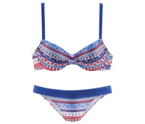 Bügel-Bikini blau / rot / weiß
