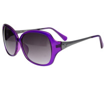 Sonnenbrille silbergrau / lila
