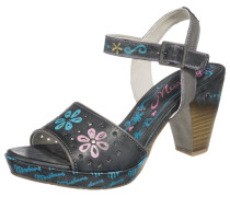 Sandalette hellblau / basaltgrau / rosa