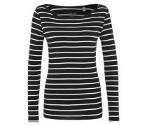 Longsleeve mit Streifen schwarz / weiß