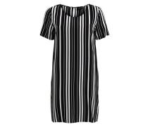 Vimask-Kleid mit kurzen Ärmeln schwarz