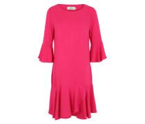 Volant-Kleid 'Mial' dunkelpink