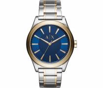 Quarzuhr 'ax2332' blau / gold / silber