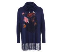 Oversized Pullover 'clara' blau