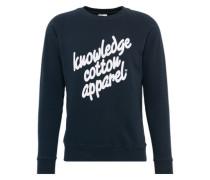 Sweatshirt 'osc' dunkelblau / weiß