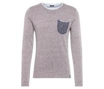 Sweatshirt 'johann' grau / braunmeliert