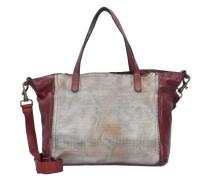 Traditional Shopper Tasche Leder 35 cm rot