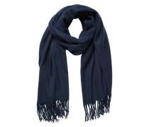 Schal Langer Fransen- blau