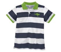 Poloshirt für Jungen ultramarinblau / hellgrün / weiß