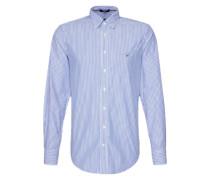 Hemd mit Nadelstreifen blau / weiß